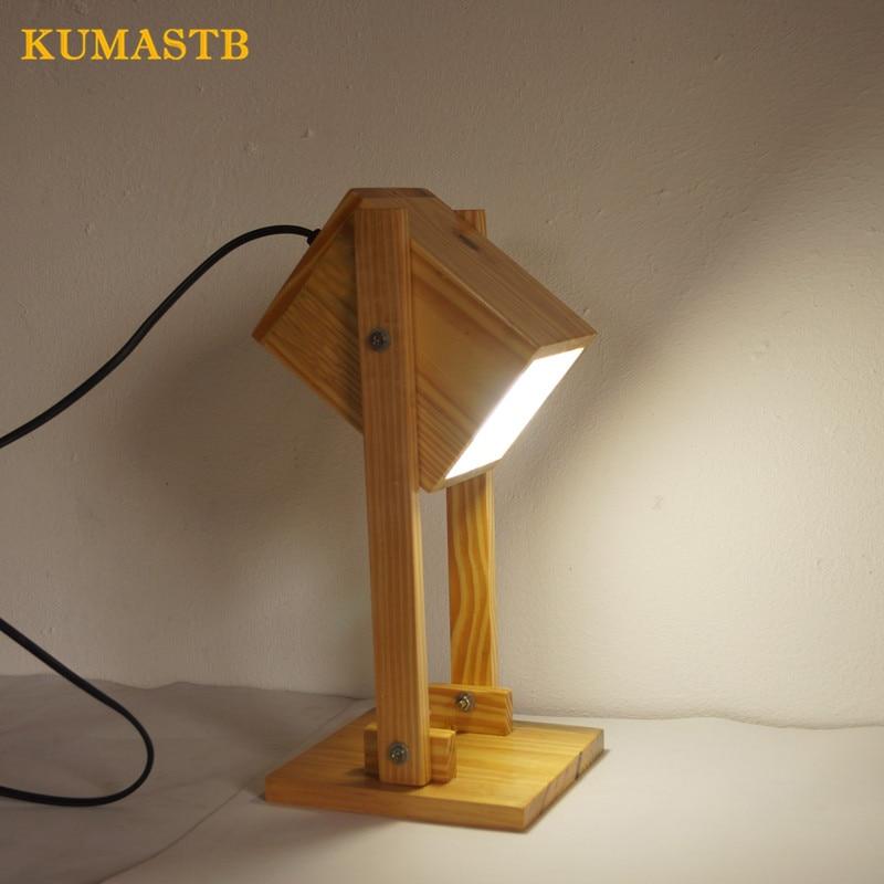 Минималистский современный Nordic настольная лампа японский Стиль дерево ночной Светильник Спальня украшения настольная лампа дерево света