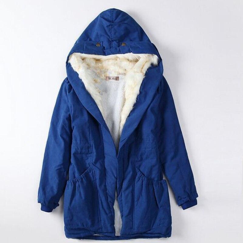 Laine rembourré En Mode Grand Casual Col Épaissie red Manteau De Pour Fille Femmes D'hiver Green Vestes army Coton Black blue Et Lumineux Mince x7vSq6n