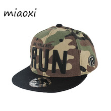 miaoxi Brand New Fashion Army Green Child Baseball Cap Kids Run Hat Ca
