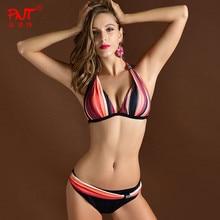 Italy Brand Sexy Women Bikini Swimwear Push Up Striped Triangle Bathing Suit Beach Swim Sports