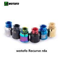 Original Wotofo Recurve RDA 24mm Tank Vape Rebuilding Dripping Atomizer Single Coil Vape Tank E Cigarette
