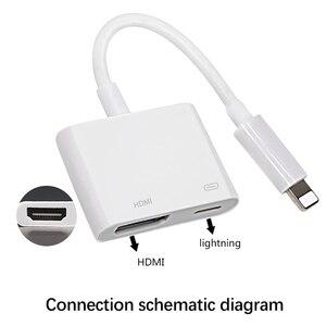 Image 3 - Lighting to HDMI Av Adapter สำหรับ iPhone Lightning to HD TV Audio Video HDTV Converter สำหรับ iPhone X 6S สำหรับ iPad iPod