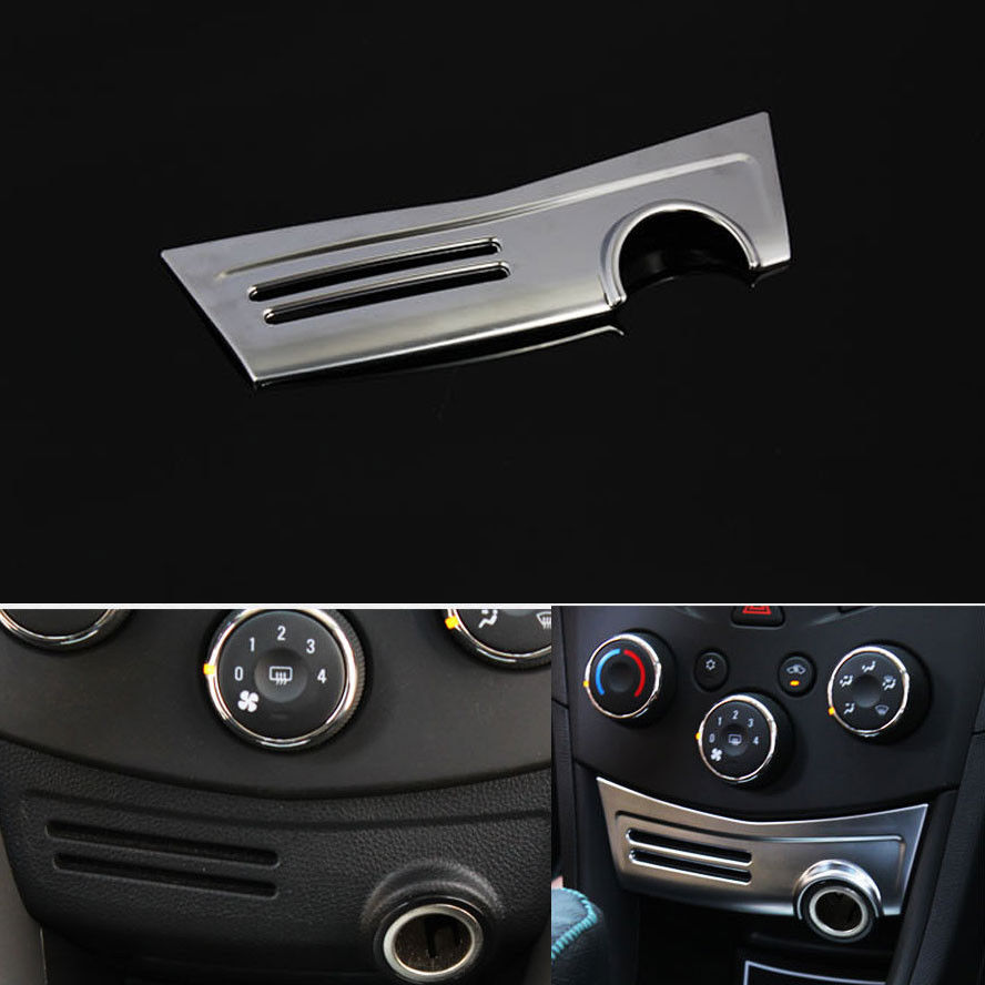 Chrome ABS Cigarette Lighter Panel Cover Trim Interior Decoration Molding Overlay For Chevrolet Chevy TRAX 2013-2015 Car Styling
