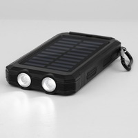30000mAh Waterproof Durable Portable Solar Charger Dual USB Battery Power Bank With Compass 2 LED For