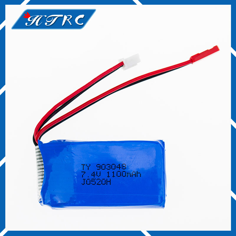 7.4 V 1100 mAh Lipo Battery For WLtoys V353 Aircraft Li-Po Battery For WLtoys A949 A959 A969 A979 k929 Remote Control Car 903048 mini 3 in 1 car charger ac charger usb data charging cable set for samsung p1000 p1010 blue