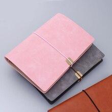 Business Bandage zachte oppervlak 6 Gaten Loose Leaf Binder Spiraal Notebook Gestippelde Raster Leeg Lijn paginas Reizen Dagboek Agenda Bujo a5