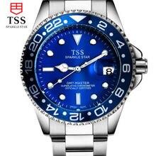 Мужчина стол световой автоматические механические часы бизнес-мужчины часы водонепроницаемый нержавеющей стали смотреть простой часовой моды