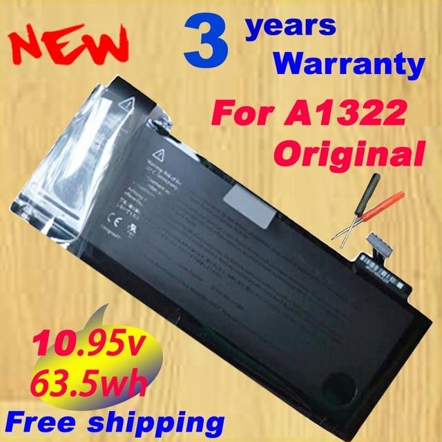 """100% original a1322 bateria para apple macbook pro 13 """"unibody a1278 mc700 mc374 mid 2009 2010 2011 frete grátis"""