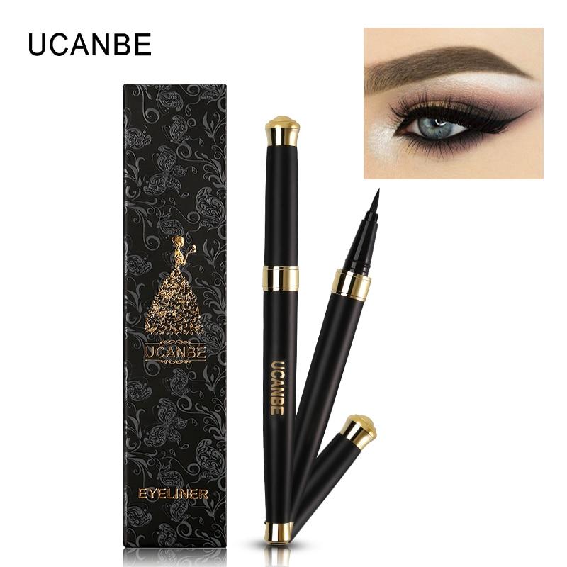 1 pc UCANBE Profesional Tahan Lama Eyeliner Pensil Tahan Air Hitam Halus Cair Eye Liner Pen Cepat Kering Makeup Delineador Kit