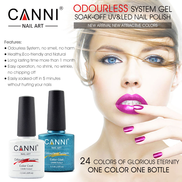30917W CANNI new 2015 wholesale odourless system gel polishes soak ...