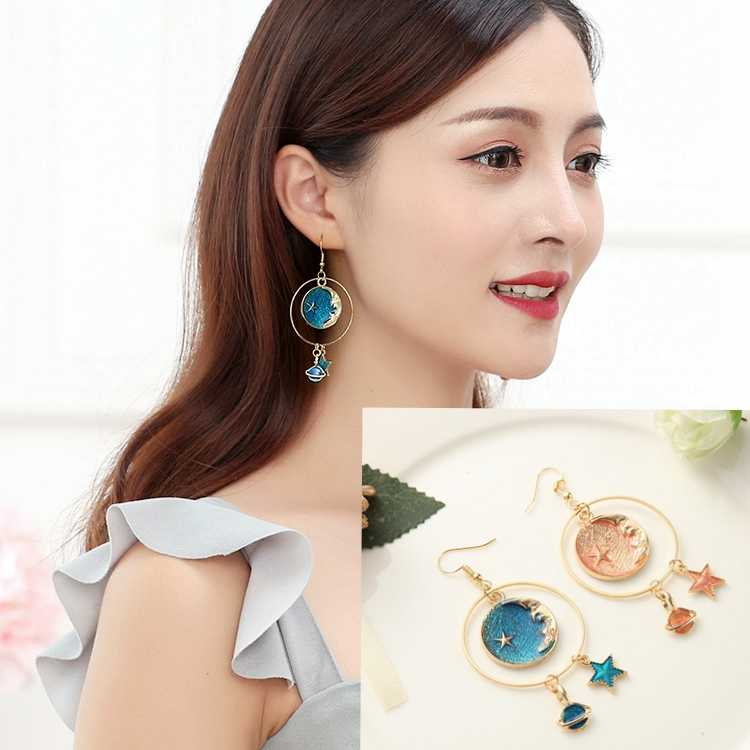 Hot style star earrings dream stars moon personality temperament earrings wholesale valentine's day gifts
