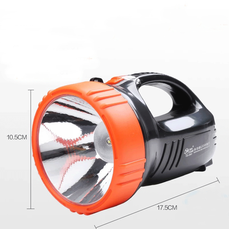 LED searchlight flashlight strong light charge long shot portable outdoor lighting emergency home torch built-in battery
