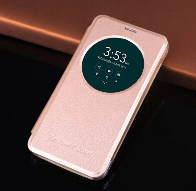 De lujo de cuero de despertador ver teléfono case para asus zenfone 3 ZE520KL ZE
