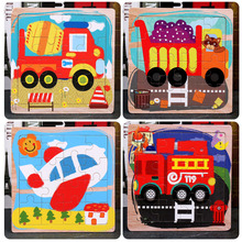 Toy Jigsaw-Puzzle Wooden-Board Traffic Kids Children Cognitive Intelligence Learning