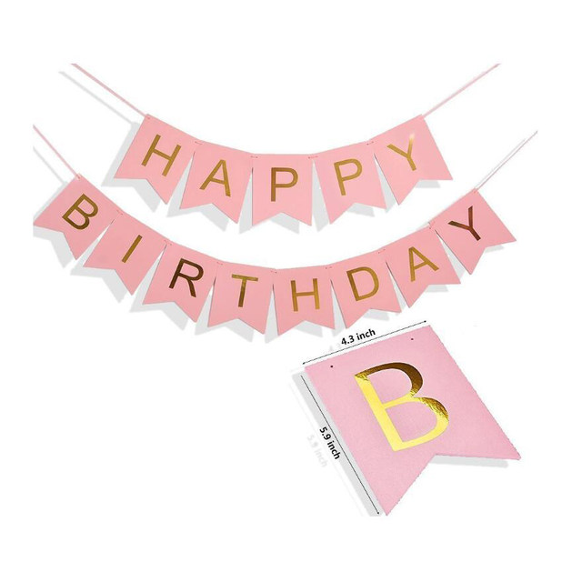 1st birthday girl decorations kit birthday decorationspink happy birthday banner gold light and baby pink