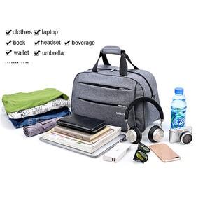 Image 5 - Luggage travel bags Waterproof canvas men women big bag on wheels man shoulder duffel Bag black gray blue carry on cabin luggage