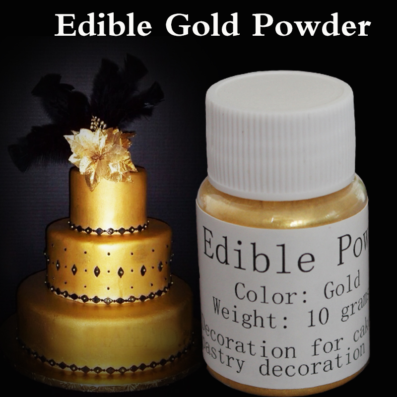 Edible gold powder Handmade chocolate fondant cake baking ...