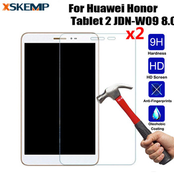 XSKEMP 2Pcs/Lot Real Tempered Glass Screen Protector For Huawei Honor Tablet 2 JDN-W09 8.0 Tablet PC Anti-shock Protective Film