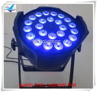 24x12w China led par light rgbwa uv 6 in 1 led par 64 can dmx stage equipment DJ club party show lighting with barn door