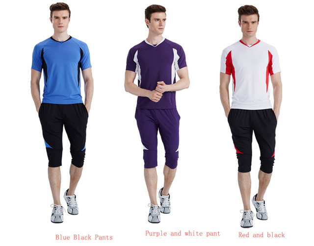 Entrenamiento ropa hombre short ropa deportiva para hombre de manga cortos  straitest ropa correr set 554587cf37e