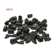 30 Pcs 4.2mm 6+2 Pin Male Power Connector Plastic Shell For PC Graphics Card PCI-E New #K400Y# DropShip