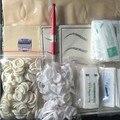 Profesional Microblading KITS Pluma Pluma Manual Pasta Eyaebrow Kits Con 30 unids Aguja Hoja 4 unids Piel de La Práctica Para El Alumno uso