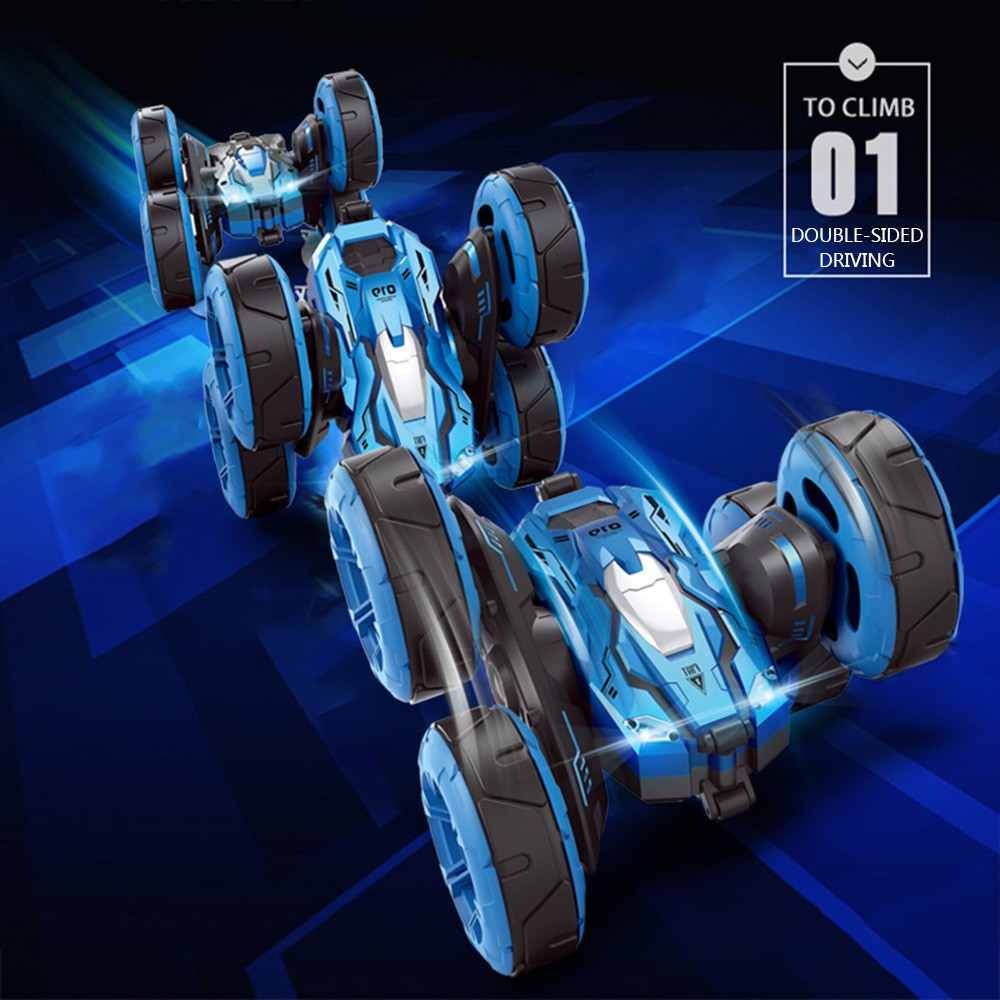 Image 4 - rc car Super four wheel drive off road rc car drift stunt deformation double sided car rechargeable children's toy car-in RC Cars from Toys & Hobbies