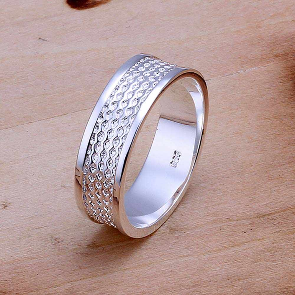 Genuine Metal Silver Rings Charms  Jewelry Silver Plated Wedding Rings for Women Fashion Jewelry Bague Femme Anillos Mujer