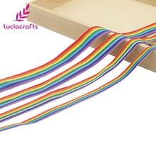 Bracelet en gros-grain à rayures arc-en-ciel, artisanat multi-taille, ruban de couleur arc-en-ciel pour bricolage, artisanat, emballage cadeau S0603
