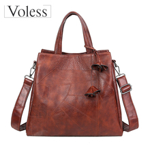 Large Capacity Bags for Women 2019 Luxury Messenger Bag Retro Tote Shoulder Top-handle Quality Bolsos Mujer