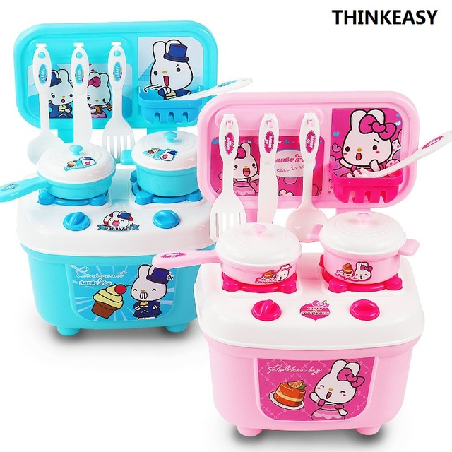 Thinkeasy Kids Kitchen Set Children Toys Small Cooking Simulation Model Play Toy For