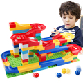 Free shipping DIY Construction Marble Race Run Maze Balls Track Plastic House Building Blocks Toys for kids Christmas No Box