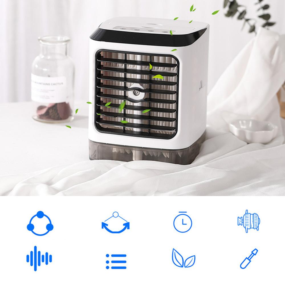 USB Mini Air Conditioner Humidifier Home Office Dorm Outdoor Cooler Cooling Fan with remote control