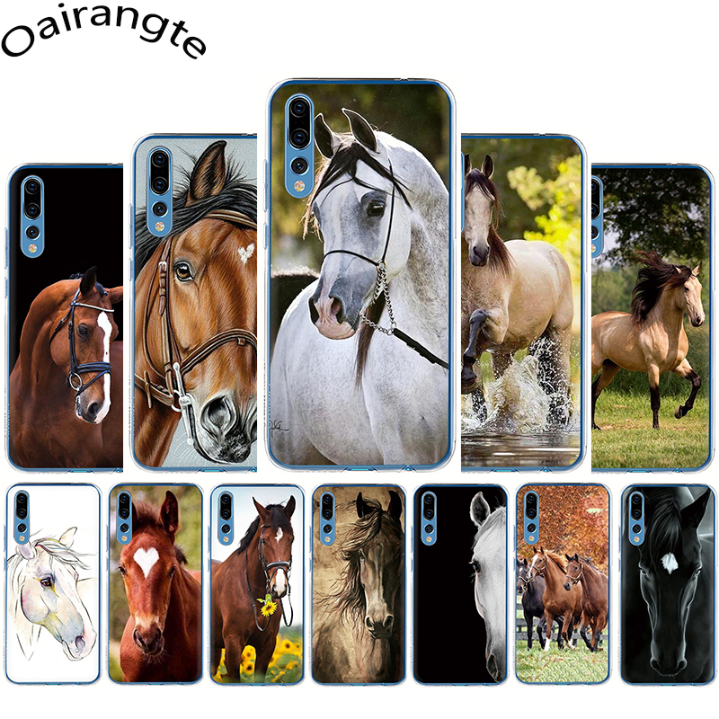 Watercolor Horse Horses Running Hard phone Cover <font><b>case</b></font> for Huawei <font><b>Honor</b></font> 6A 6C 7A Pro 7C 7X 8C 8X 8 <font><b>9</b></font> 10 <font><b>Lite</b></font> Play image
