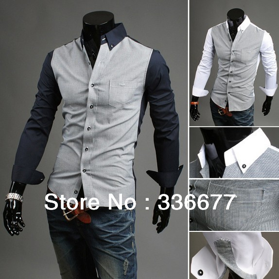 Compare Prices on Mens Double Color Shirts- Online Shopping/Buy ...