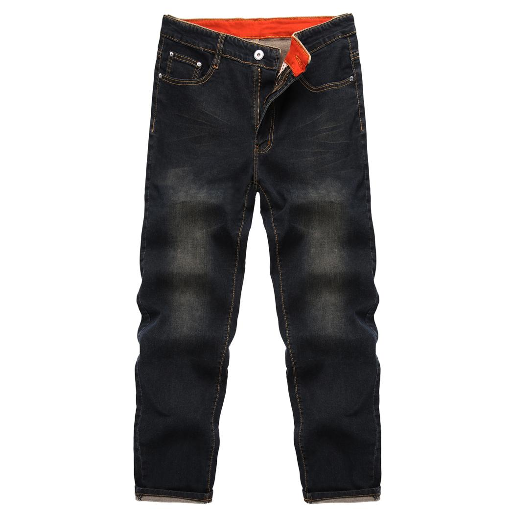 COOFANDY Men Fashion Jeans Mid Waist Zip Up Casual Pants With Pockets Spring, Autumn Winter Fit Men Solid Jeans