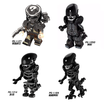 Single Sale  Predator 1050 Alien Assembled Building Blocks Humanoid Toy Kids Birthday Gift Collector Toys