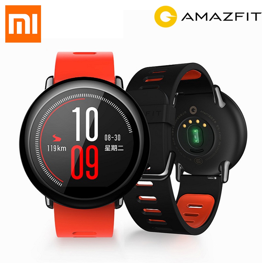 xiaomi mi huami amazfit smart watch stratos 2 english version sports smartwatch with gps ppg heart rate monitor 5atm waterproof [English Version]Original Xiaomi Huami Watch AMAZFIT Pace GPS Running Bluetooth 4.0 Sports Smart Watch MI Heart Rate Monitor CE