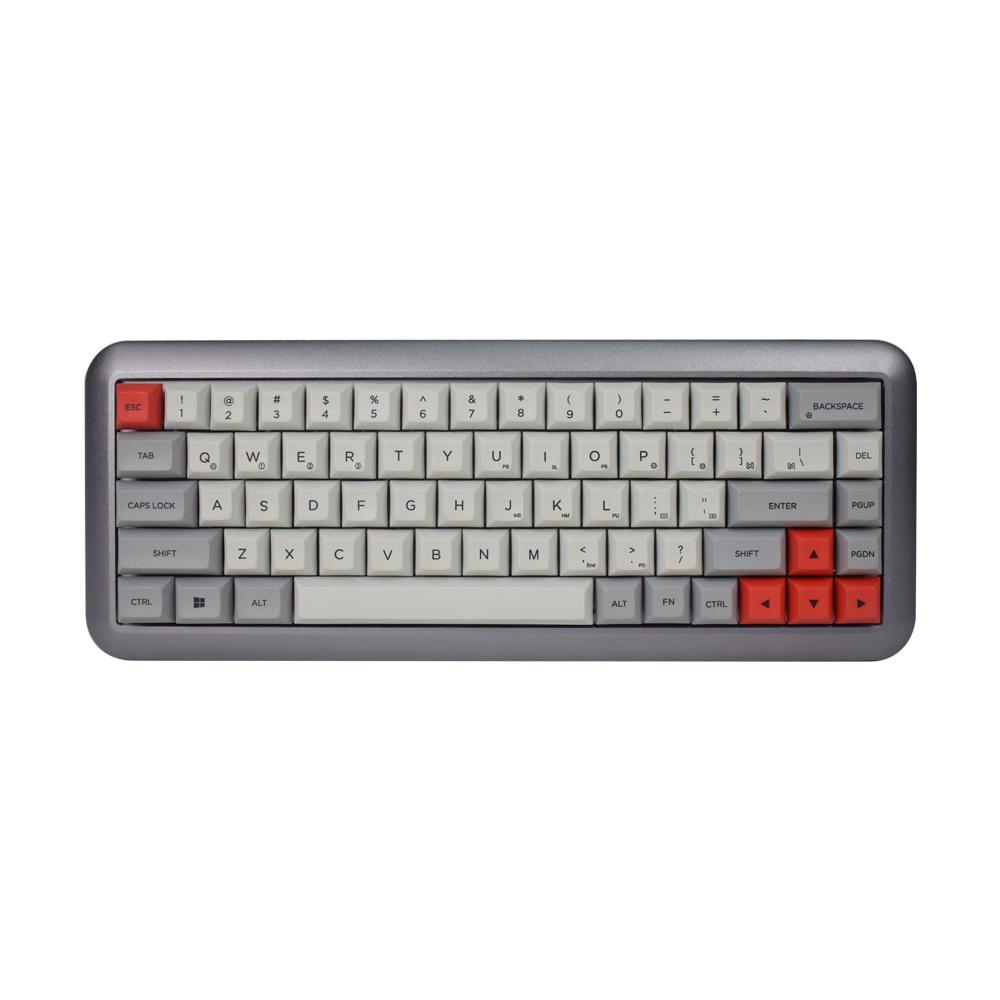 GK68 RGB aluminum mechanical keyboard kit semi finished DIY