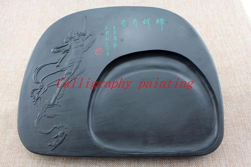 10 Plum Blossom Ink Grinding Stone She Inkstone Calligraphy Painting Sumi-e 10 Plum Blossom Ink Grinding Stone She Inkstone Calligraphy Painting Sumi-e