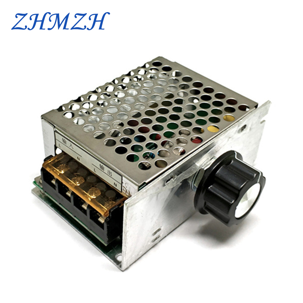 High Power 4000W Thyristor Electronic Dimmer 220V Silicon Controlled Rectifier Voltage Regulator Speed Control Thermostat