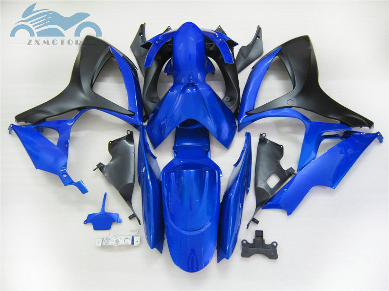 Injection <font><b>Fairing</b></font> <font><b>kits</b></font> for SUZUKI 2006 2007 K6 GSXR600 750 motorcycle road racing <font><b>fairings</b></font> <font><b>kit</b></font> GSXR750 <font><b>GSXR</b></font> <font><b>600</b></font> 06 <font><b>07</b></font> blue black image