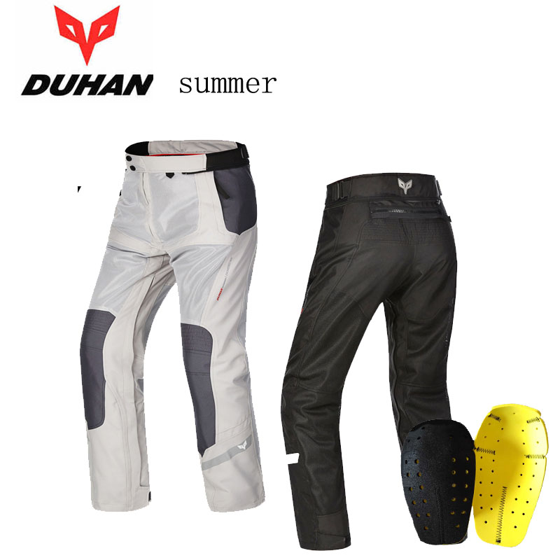 2016 New summer DUHAN mesh motorcycle riding pants Moto racing pant male motorbike trousers Anti-wrestling Black Gray DK-201B 2017 new volero motorcycle trousers