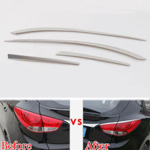 Stainless Car Rear Tail Light Taillight font b Lamp b font Upper Eyelid Cover Strip Trim