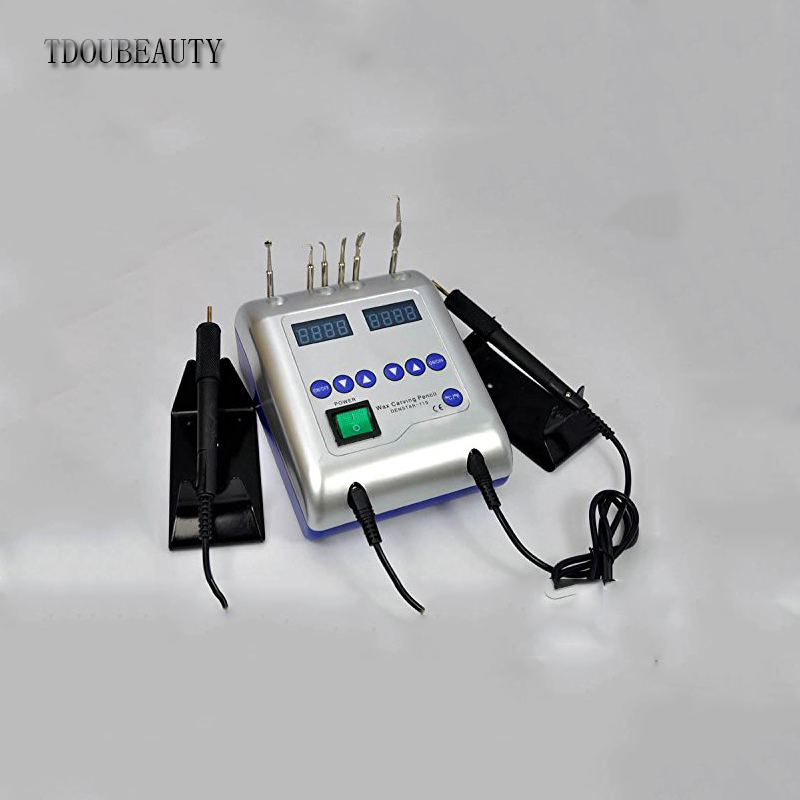 TDOUBEAUTY New Dental Electric Waxer Carving Knife Machine With Double Pen 6 Wax JT-21 Free Shipping