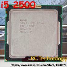 Original Intel core i5-2500 i5 2500 3.3 ghz CPU 6 m LGA1155 95 w de desktop Quad-Core Frete grátis enviar para fora dentro de 1 dia