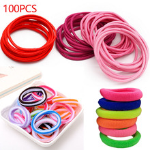 100pcs/lot 3Types Elastic Ponytail Holders Rings Rubber Bands Hair Accessories Hair Ring Gum for Hair Girls Elastic Hair Bands 20pcs lot elastic hair bands gum hook ponytail holder bungee hair thick updo quick hair tool styling dresser hair accessories