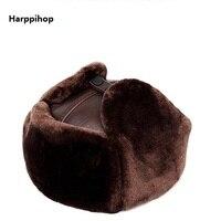 El Sombrero Men S Cowhide Warm Hat 100 Genuine Leather Cap Autumn And Winter Casual Real