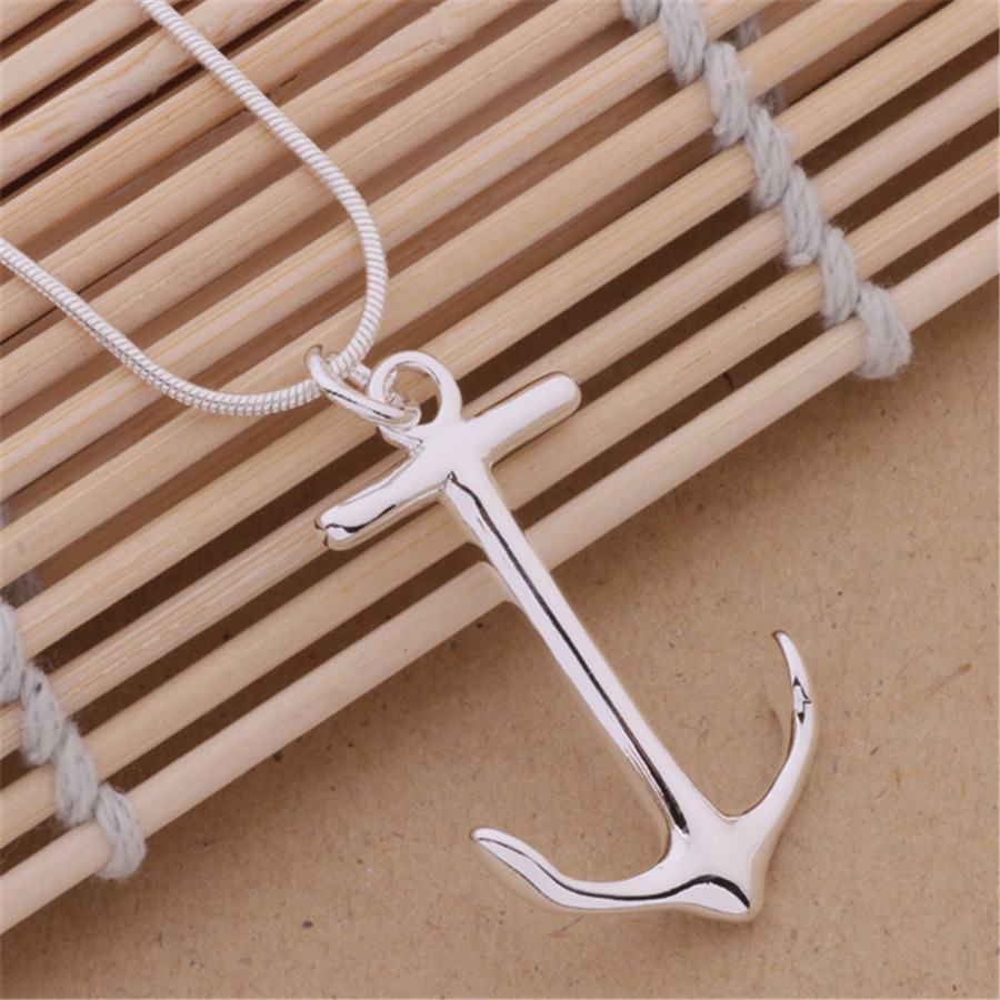 new fashion silver plated charms Anchors charms men women cus