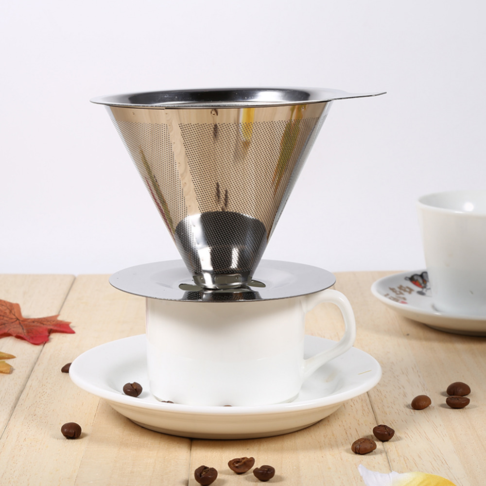 Coffee Filter 150 micron Double Layer Stainless Steel Holder Pour Over Coffees Dripper Mesh Coffee Tea Filter Basket Tools алмазный брусок extra fine 1200 mesh 9 micron dmt w6e